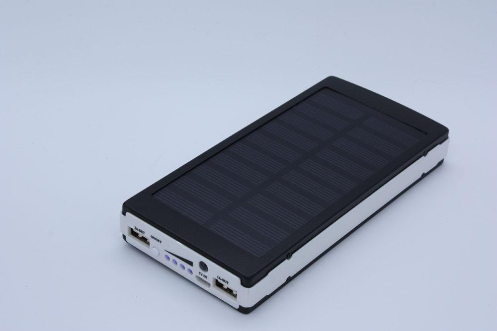 power bank solar panel 20000 mah ladeger t zusatzakku dual. Black Bedroom Furniture Sets. Home Design Ideas